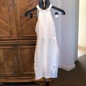 Lulus white halter top dress